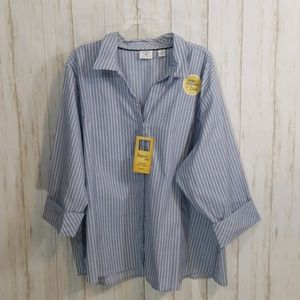 Riders lee easy care button down  blouse size 4x